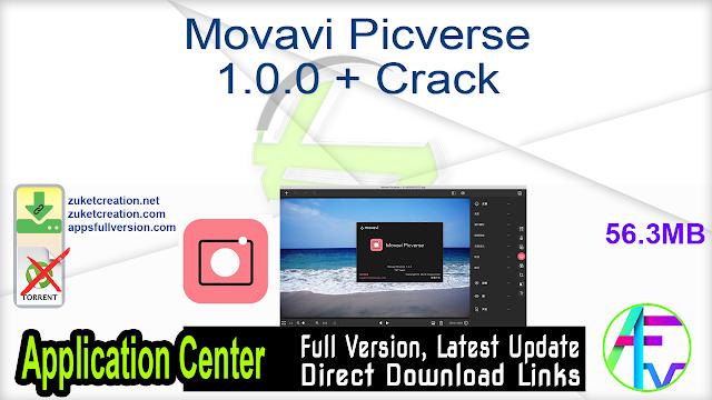 Movavi Picverse 1.0.0 + Crack