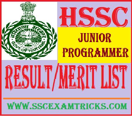 HSSC Junior Programmer Result