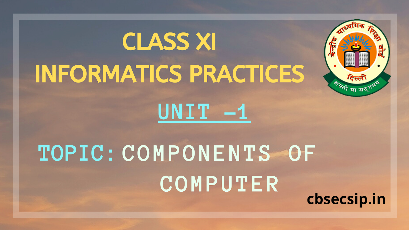 components of computer CLASS XI INFORMATICS PRACTICES