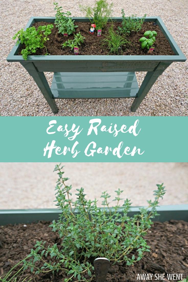 Raised Herb Garden - Away She Went