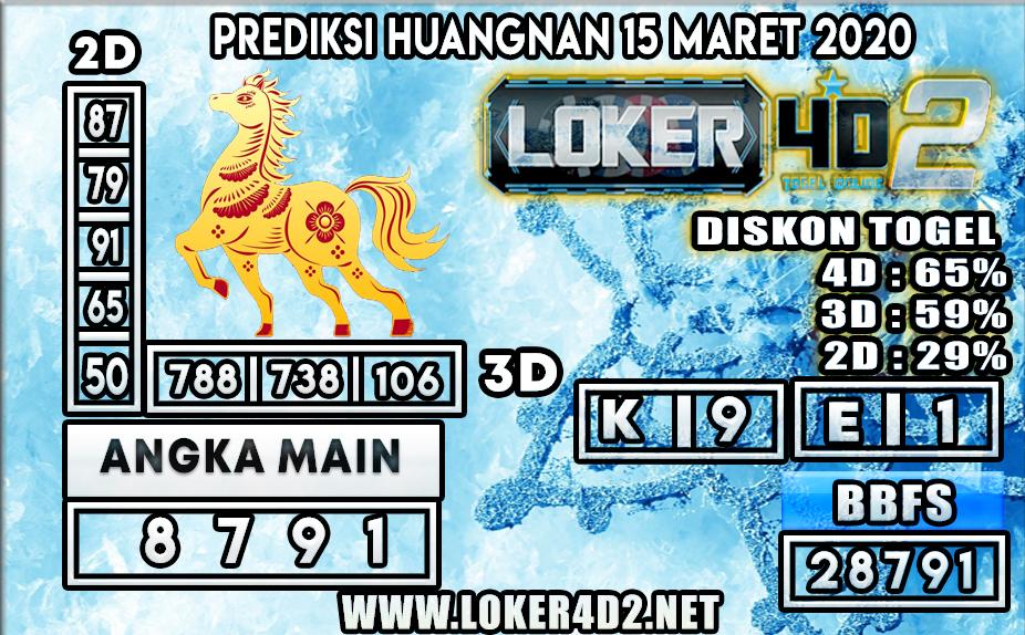 PREDIKSI TOGEL HUANGNAN LOKER4D2 15 MARET 2020