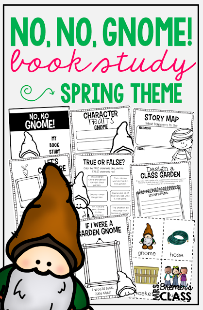 No, No, Gnome! book study companion activities to go with the book by Ashlyn Anstee. Perfect for whole class guided reading, small groups, or individual study packs. Packed with lots of fun literacy ideas and guided reading activities. Common Core aligned. K-2 #bookstudies #bookstudy #picturebookactivities #1stgrade #2ndgrade #kindergarten #literacy #guidedreading #bookcompanion #bookcompanions #1stgradereading #2ndgradereading #kindergartenreading #springbooks