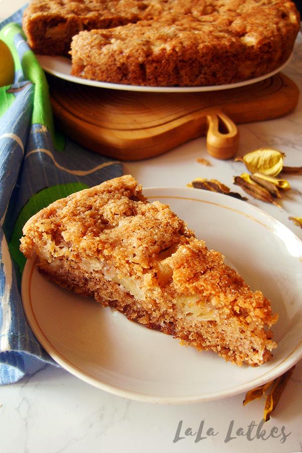 Простой яблочный пирог на растительном масле