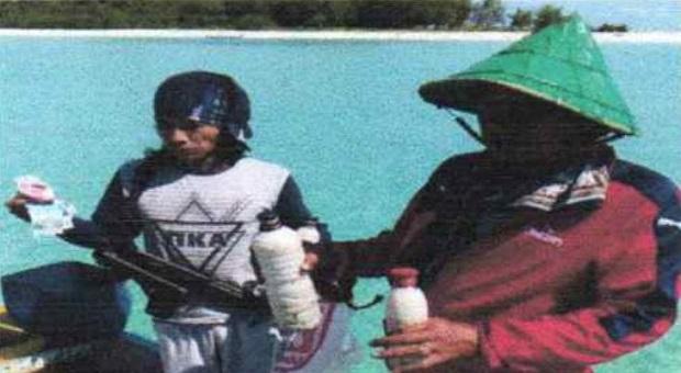 Bakamla RI Tangkap Perahu Nelayan yang Bawa Bahan Peledak