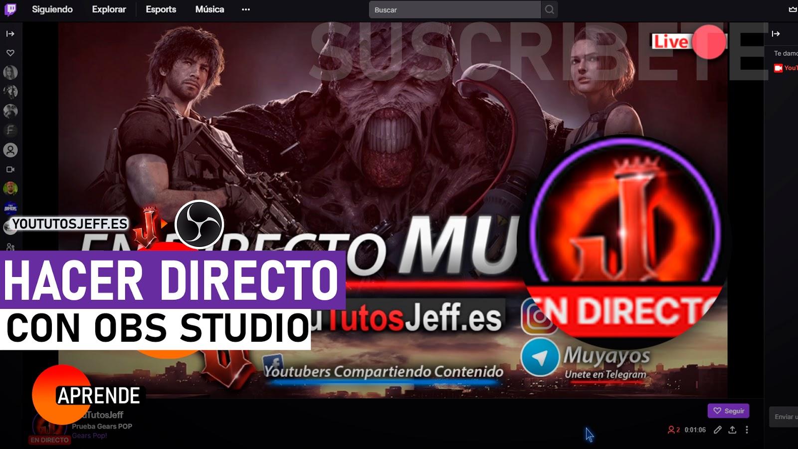 Como Hacer un Directo en Twitch con OBS Studio SIN LAG