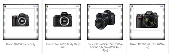 Info Daftar Harga Kamera Digital DSLR/SLR