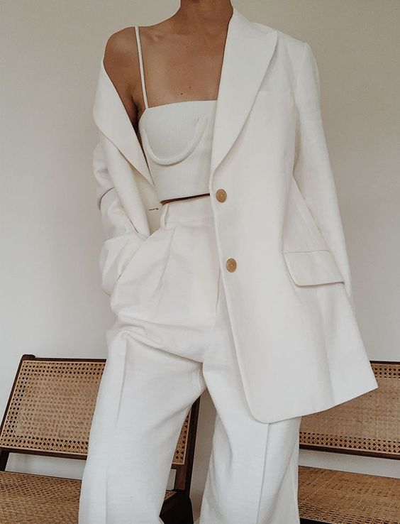 Style File | Spring Trend: The White Trouser Suit / Pantsuit