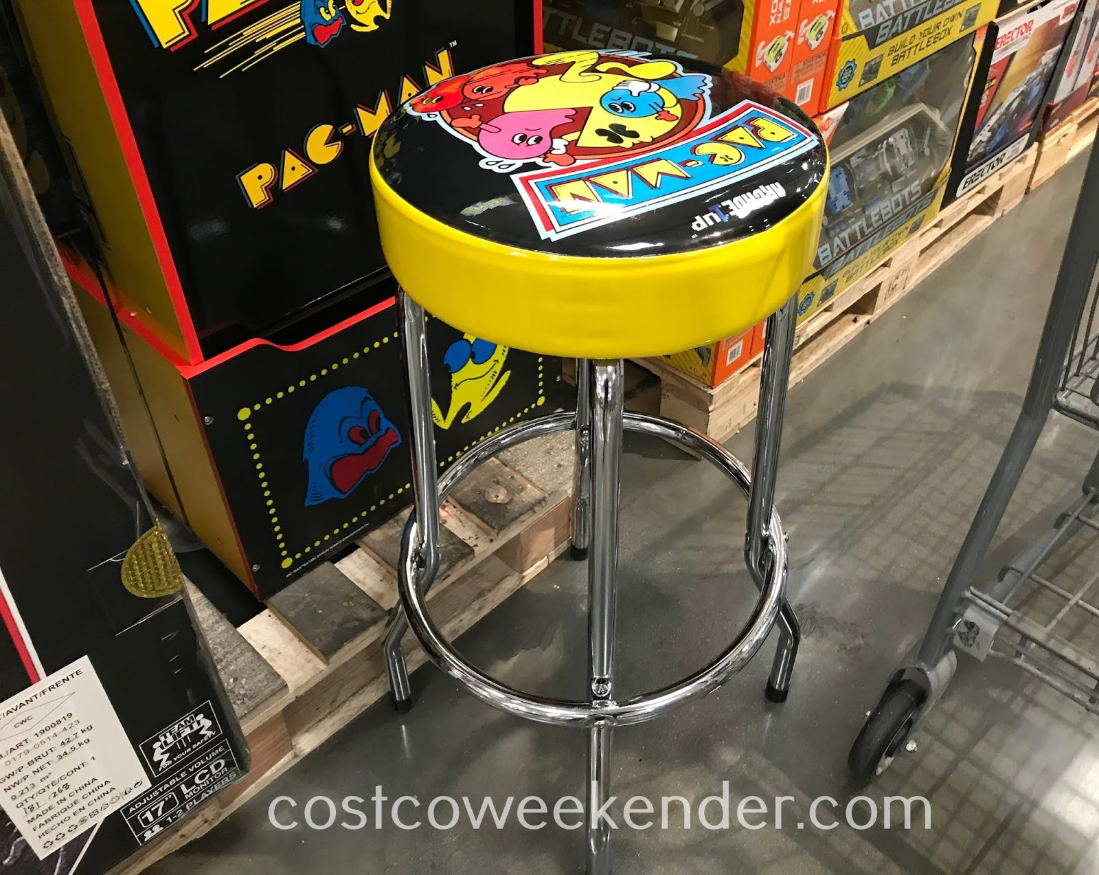 Arcade1Up Mini Arcade Machines even come with a matching stool
