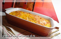 gratin de courge au couscous de riz