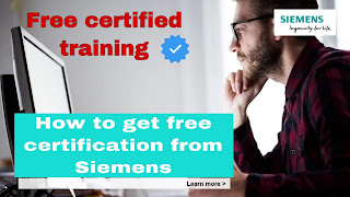 How to get free certified training from SIEMENS
