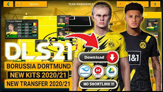 Download Dream League Soccer Special DLS 21 Borussia Dortmund Edition & New Update Kits Transfer