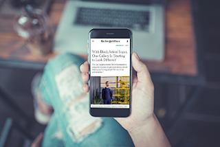 New York Times Mobile blog page design