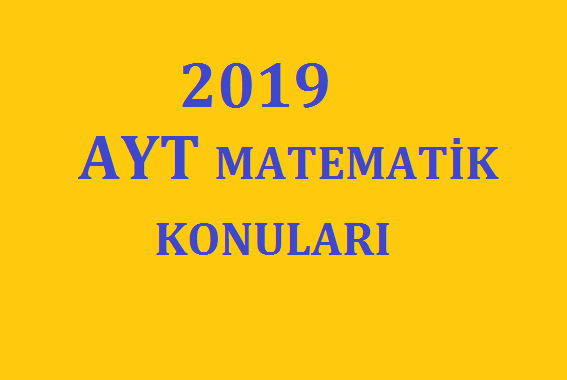 2019 ayt matematik hazırlık