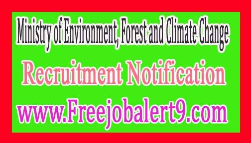 Ministry of Environment, Forest and Climate Change – ENVFOR Recruitment Notification 2017