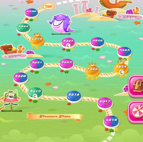 Candy Crush Saga level 5316-5330