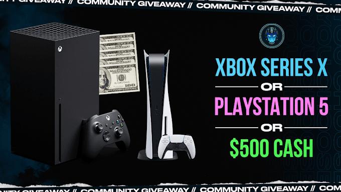 Sorteio de um Xbox Series X | PS5 ou $ 500 em Dinheiro
