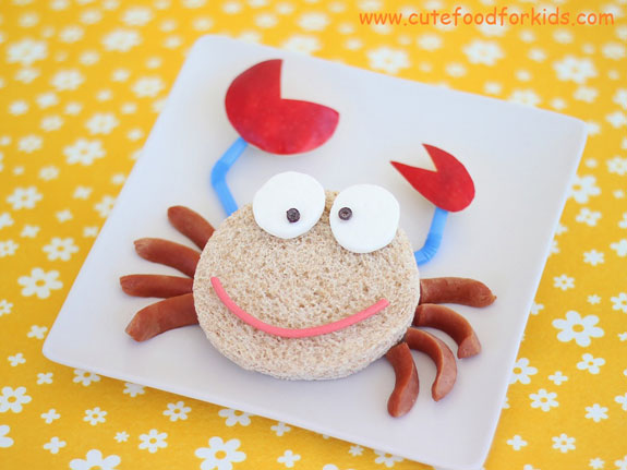 How to Make a Crab using Bread and Sausages