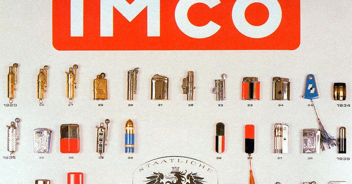 Table lighters collectors' guide: Poster with IMCO lighters