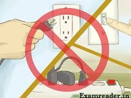 Do not insert or remove electric plug