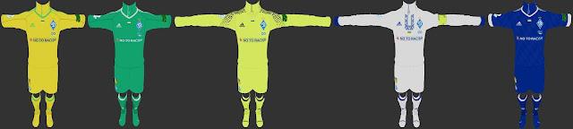 Dynamo Kyiv 2017-2018 Kit PES 2013