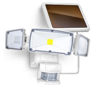 $19.79, Solar Motion Sensor Security Light with 1500 Lumen Triple Head LED $19.79 + Free Shipping w/ Prime