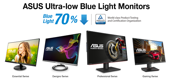 ASUS Ultra-Low Blue Light Monitors