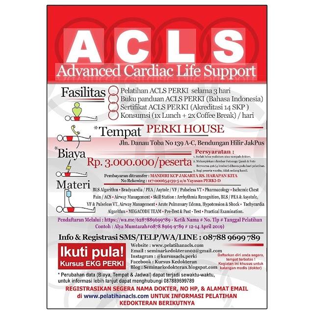 Kalender Pelatihan ACLS dan EKG Tahun 2019