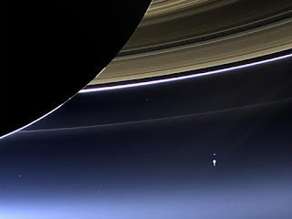Photograph of Earth seen by Cassini