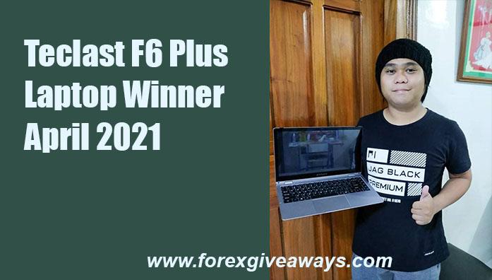 Arpil 2021 Telcast F6 Laptop Winner