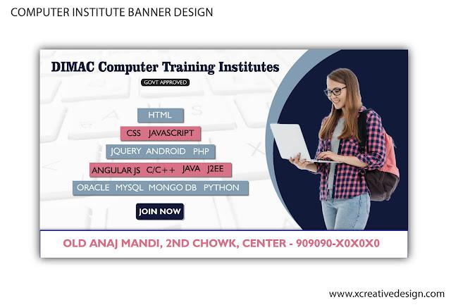 Computer Institute Banner Design in vector and cdr