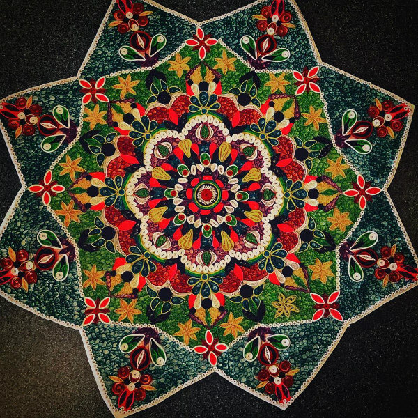 densely quilled colorful mandala