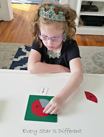 Creating Fractions using Montessori Fraction Materials
