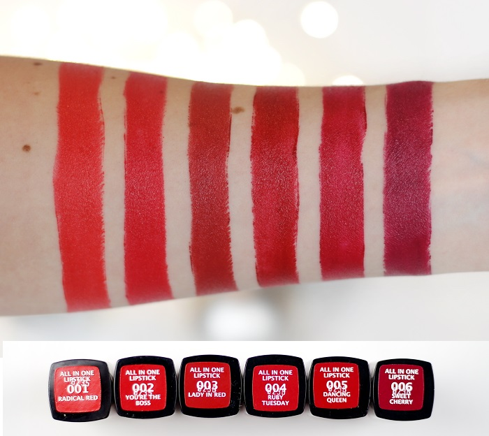 Manhattan GlamRed Swatches Lippenstift
