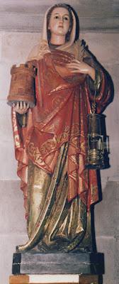 Santa Bárbara en la iglesia parroquial de Santa María de Murias