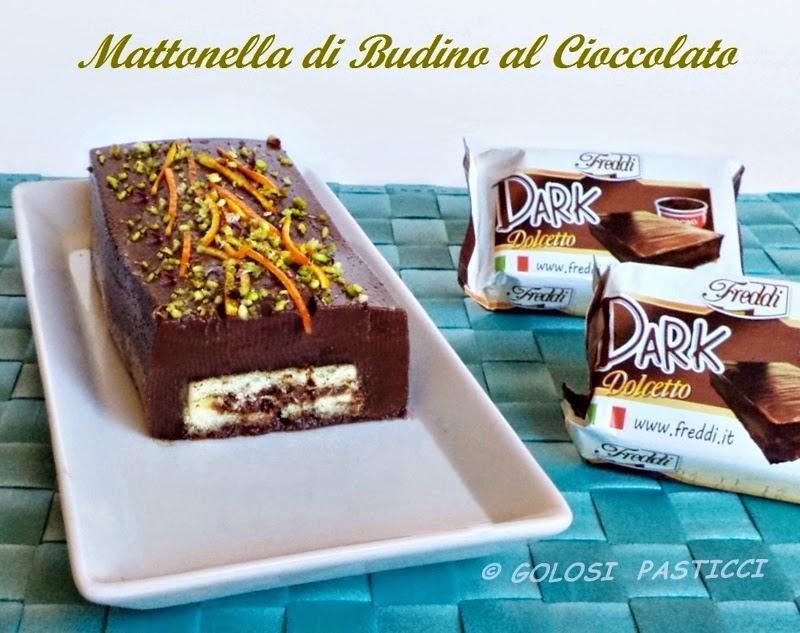 Budino al cioccolato con farcitura dolcetto dark Freddi
