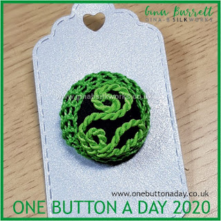 One Button a Day 2020 by Gina Barrett - Day 42: Burgeon
