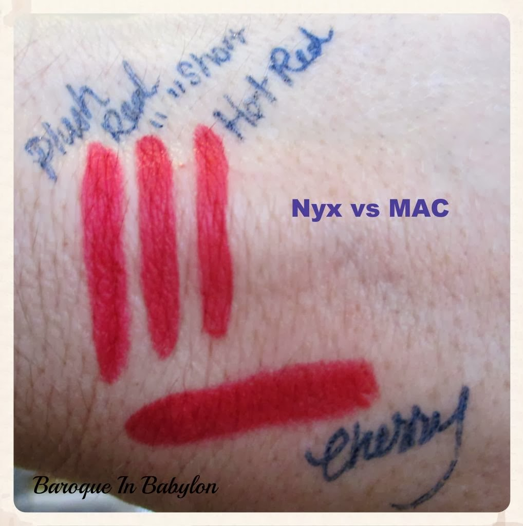 Baroque In Babylon: MAC Lip Pencils vs Nyx Lip Pencils ...