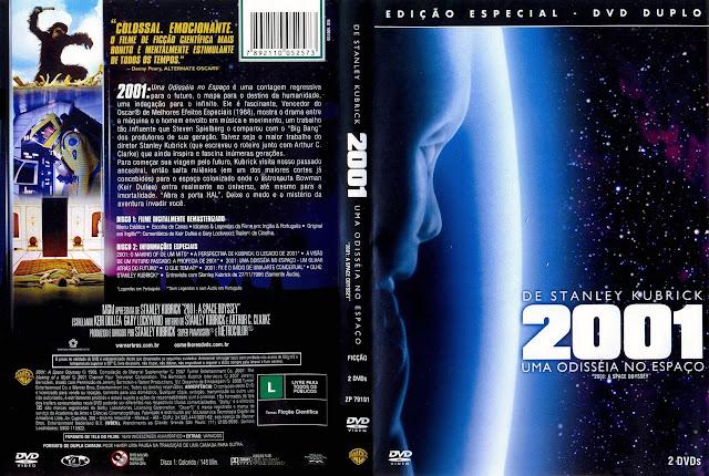 Capa DVD 2001 UMA ODISSÉIA NO ESPAÇO (Edição Especial - DVD Duplo)