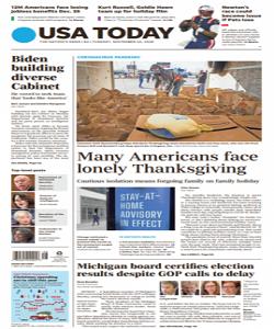 USA Today Magazine 24 November 2020 | USA Today News | Free PDF Download
