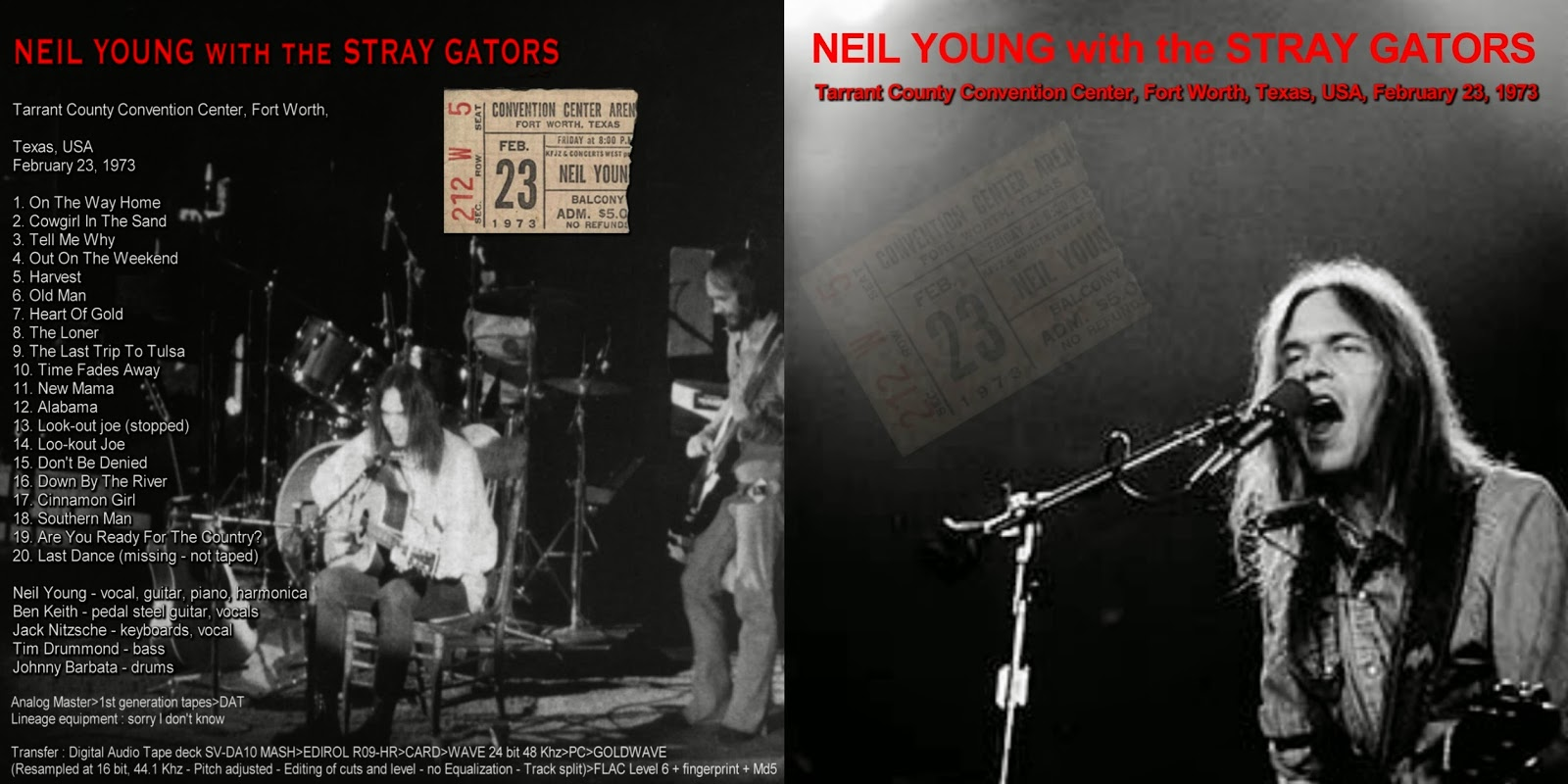 PLUMDUSTY'S PAGE: Neil Young 1973-02-23 Tarrant County ...
