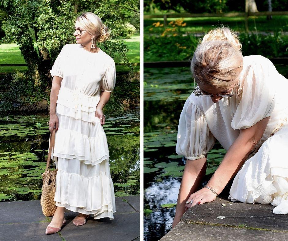 Romantik-Kleid-Outfit