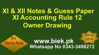 XI Accounting Rule 12 Owner Drawing