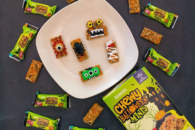 How to Make Chewy Halloween Mini Bar Monster Snacks