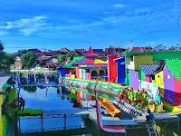 Kampung Warna Warni (Sungai kalilo) Banyuwangi , Satu Lagi Spot Kece Nih