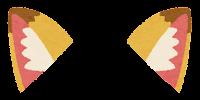獣耳のイラスト(キツネ1)