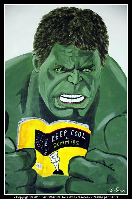 Visage Hulk street art Sedan