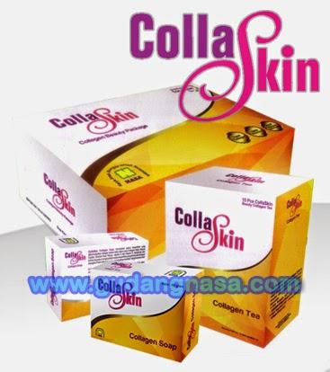"""COLLASKIN """"Double Action for Skin"""" Collagen Soap & Collagen Drink : Sabun dan Minuman Kolagen Kombinasi Sinergi Dua Produk Perawatan Kulit dari Dalam dan Luar Tubuh"""