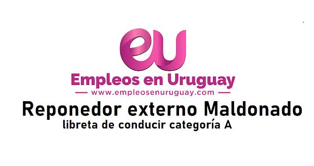 Reponedor externo Maldonado libreta de conducir categoría A