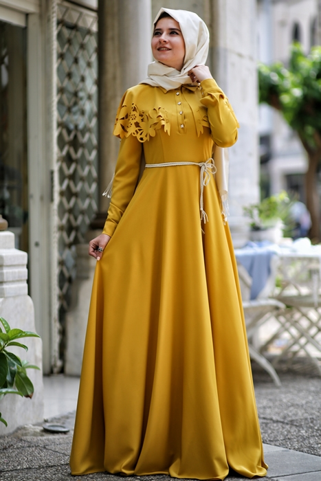 Today And In The New Post To Modest Elegance Offering You A Wonderful Hijab Dresses For Veiled Womens Turkish Taste Attractive Colors