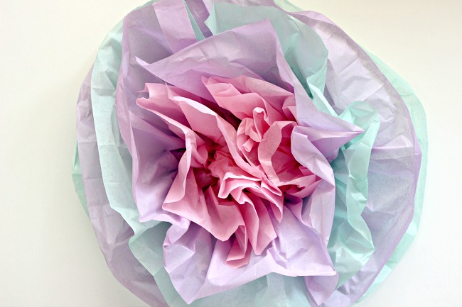 How To Make Tissue Paper Flowers Dimples And Tangles